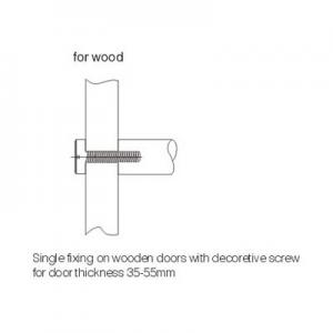 SINGLE FOR WOOD WITH DECORATIVE SCREW